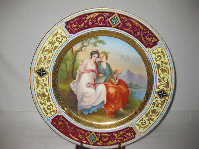 """Austrian Royal Vienna Hand Painted Charger  12""""  Signed"""