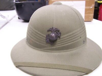 65b37b33bc WWII US NAVY Pith Helmet with EGA device TB -  29.98