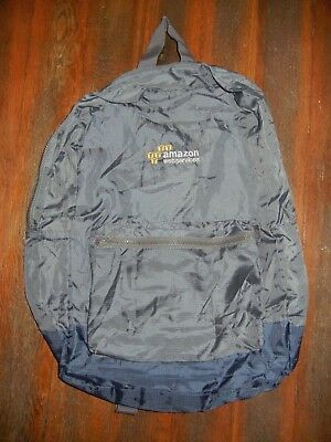 AMAZON WEB SERVICES AWS Prime Gray Thin Nylon WORK BACKPACK School Book Gym Bag