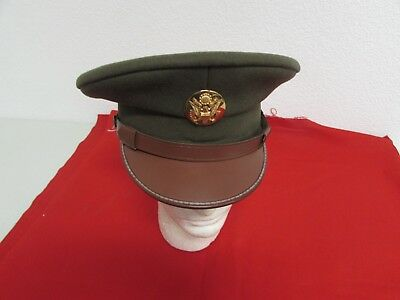 WWII  US Army enlisted visor hat size 7 dress visor cap new old stock.  CM