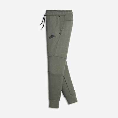 152b08d3d6b3 Nike Boys Kids Tech Fleece Pants Cuffed Jogger Sweatpant GREY GREEN  804818-004 S