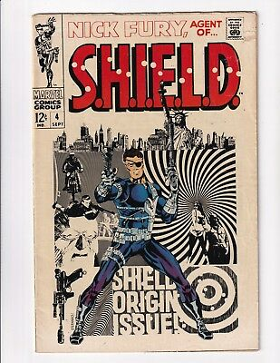 Nick Fury,Agent Of SHEILD #4 (Marvel 1968)