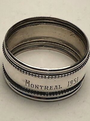 Antique Round Napkin Ring, Sterling Silver, 1""