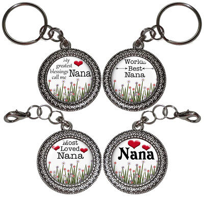 Key Ring NANA Gifts For Grandma Grandmother Key Chain Purse Charm Handmade #3
