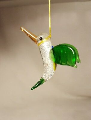 Hummingbird ~Glass Figurine~ magnificent colors 1 1/4""