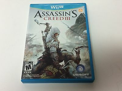Assassin's Creed III Nintendo Wii U Complete NM Assassin's Creed 3