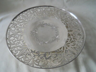 """American Sterling Footed Pierced Tray 11"""" 375 Grams"""