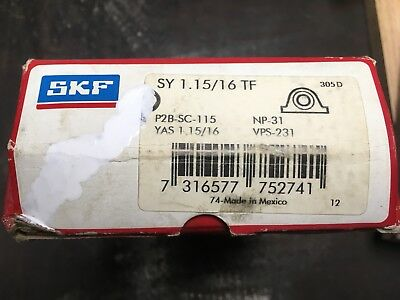 SKF SY 1.15/16 TF Pillow Block Bearing New P2B-SC-115,YAS 1.15/16,NP-31,VPS-231