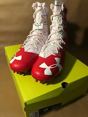 827cd8bb5 Under Armour Ua Highlight Mc Football Cleats Men s Sz 11 Red White  1269693-611