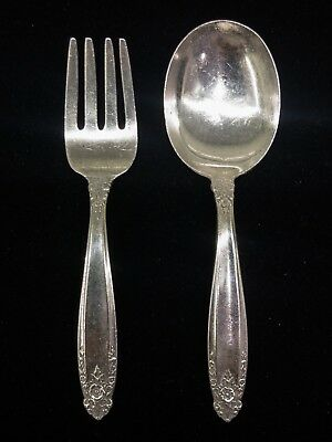 International Silver Prelude Sterling Baby Fork & Spoon Set, Infant Child Youth