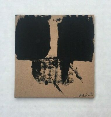 No.22 Original Abstract Minimalist Painting on Recycled Cardboard by K.A.Davis!