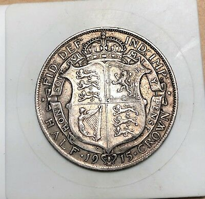 1915 Great Britain Half Crown - Silver - KM # 818/830 - British - Half Crown