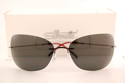22e86f40df New Silhouette Sunglasses TMA Ultra Thin 8147 6238 Black Grey Polarized For  Men