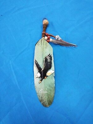 Hand Painted Feather , Eagle ,arts & Crafts ,southwest Art ,santa Fe Style #28