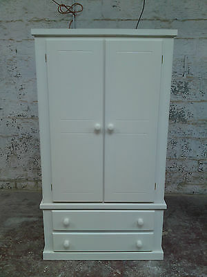 Shaftesbury Furniture White 2 Drawer Wardrobe (Assembled)**special Offer