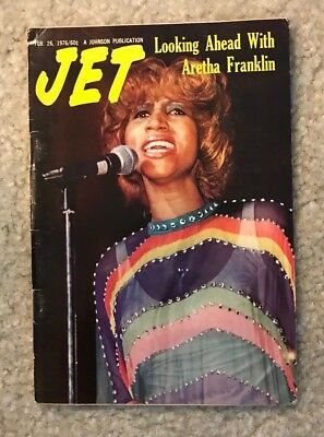 Jet Digest Magazine Looking Ahead With Aretha Franklin February 1976