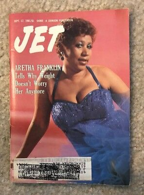 1981 Jet Digest Magazine Aretha Franklin Tells Why Weight Doesn't Worry Her