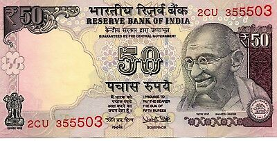 INDIA 50 Rupees 2017 P NEW Letter R - UNC Banknote