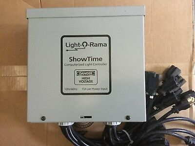 4 light o rama 16 channel controllers for halloween christmas lor display