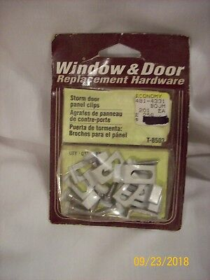 Prime-Line T-8503 Storm Door Panel Clips  -  8 pieces