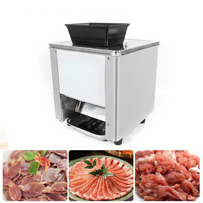 7mm Cutting Blade Commercial Grade Electric Meat Cutting Machine 120KG/h Kitchen