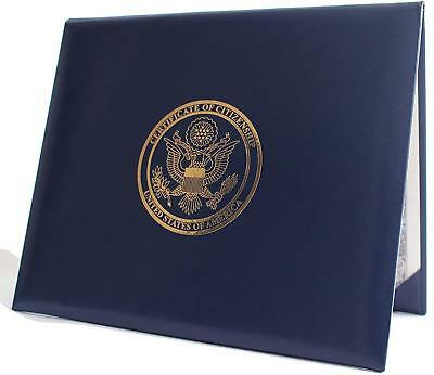 US Citizenship Certificate Holder Padded American Eagle Logo Paper Documents NEW