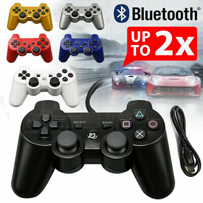 2PCS Dual Shock Wireless Bluetooth Game Controller for PS3 PlayStation 3