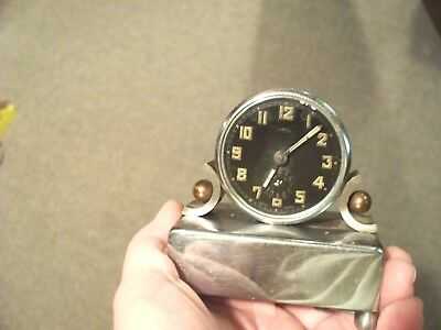 Antique Circle? Swiss  Alarm Clock-Used- Art Deco Designs- 1930's Era- Low Start