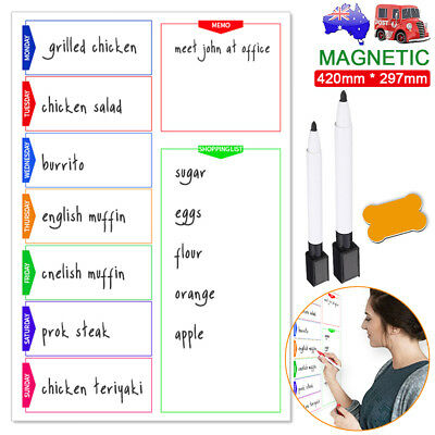 Quality A3 Magnetic Whiteboard Family Office School Weekly Planner List + 3 Gift