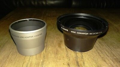 Canon WC-DC58N wide converter and LA-DC58B Adaptor Canon G3 G5 G6