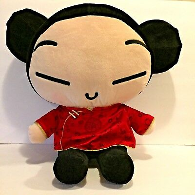 "Pucca Plush Asian Doll Stuffed 22"" Large Girl Toy Animation"