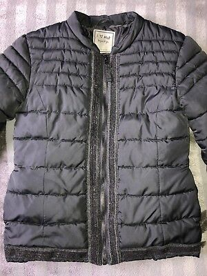 Next Girls Grey Quilted Jacket Size 10years