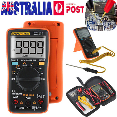 AUSTOCK Electrical LCD Digital Clamp Meter Multimeter RMS AC/DC OHM Multi Tester