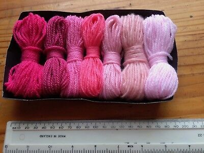 Dk Wool Oddments - Joblot - Suitable For Crafts - Shades Of Pink