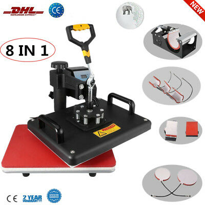 8In1 Hitzepresse Heat Press Heißpresse T-Shirtpresse Printing Transferpresse Hut