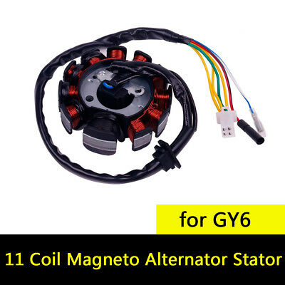 11 Coil Magneto Alternator Stator for GY6 Chinese Scooter Moped ATV Go Kart Quad