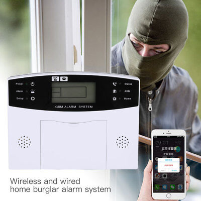 96C6 Professional Smart Voice GSM Home Security Alarm System Kit Infrared Detect