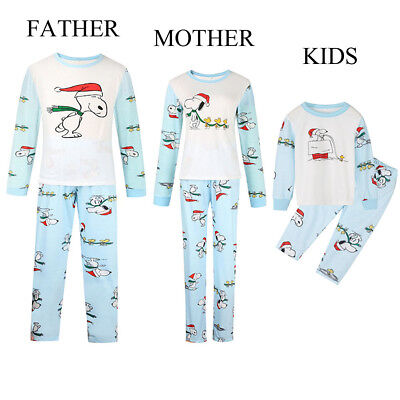 US Seller Christmas Family Match Pajamas Set Women Kid Adult Sleepwear Nightwear