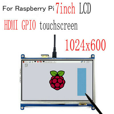 7 inch HDMI TFT GPIO LCD Display Panel Touch Screen 1024x600 For Raspberry Pi CO