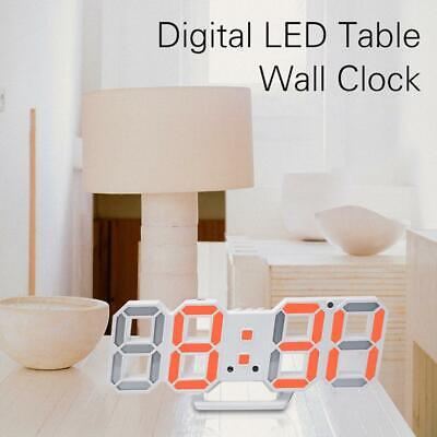 Digital LED Table Desk Night Wall Clock Alarm Watch 24 or 12 Hour Display H-