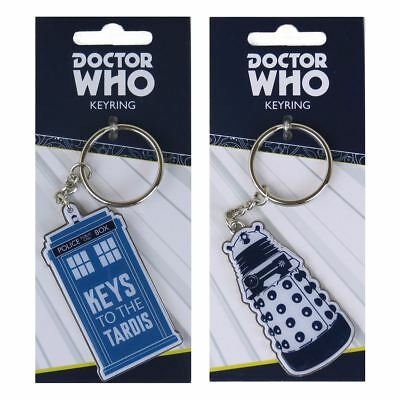 New Doctor Who Keys To The TARDIS Or Dalek Metal Keyring Keychain BBC Official