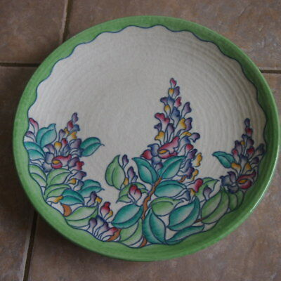 Charlotte Rhead Crown Ducal 'Wisteria' Charger c1937 - Pattern 4954 Art Deco