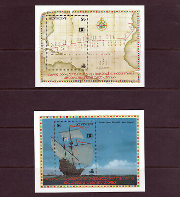 St Vincent - 1992 Columbus (6th Issue) - U/M - SG MS1901 (2)