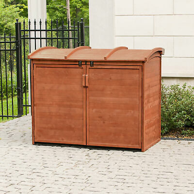 Leisure Season 5 ft. 2 in. W x 2 ft. 10 in. D Wooden Horizontal Garbage Shed