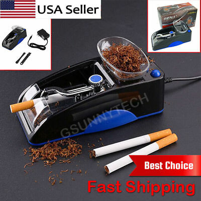 NEW Electric Automatic Cigarette Rolling Machine Tobacco Injector Maker Roller