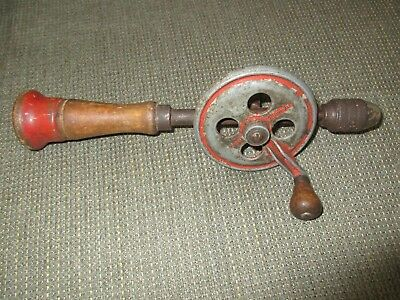 Old Vintage Hand Crank Drill Style Egg Beater Style Tool
