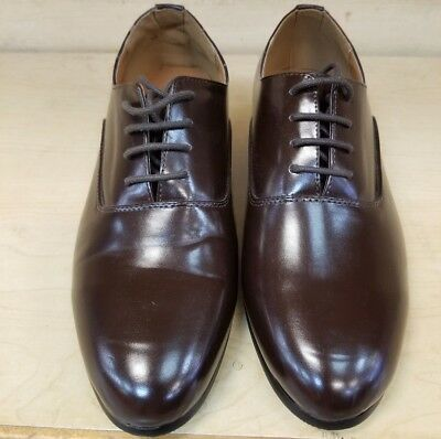 PARRAZA Mens Cuban Heel Dance Shoe lace up. Round toe. Brown  size 8