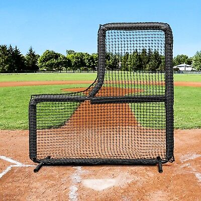 Fortress Pro Baseball L-Screen | 7ft x 7ft Pitching Screen | Pitcher's Screen