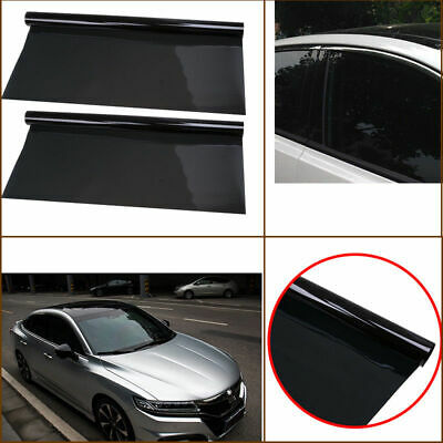 Professional Dark Smoke Black Car Window TINT 5% VLT Film 300x50cm PerCut Cover
