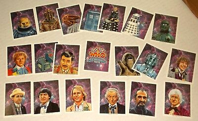 DOCTOR WHO 1993 COMPLETE 20 CARD SET 30th Anniversary CCC Daleks 7 DOCTORS